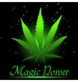 Magic ganja leaf for your design vector image