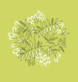 modern floral design with tropical leaves vector image vector image