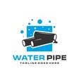modern water pipe logo vector image