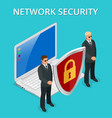 network security computer security personal vector image vector image