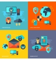 Network Security Concept vector image vector image