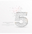 number five starry sky or space low poly wire vector image vector image