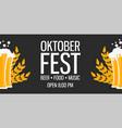 oktoberfest holiday beer background bavarian vector image vector image
