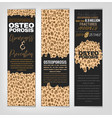 osteoporosis banners set vector image vector image