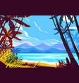 paradise beach landscape vector image vector image