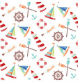 Pattern ships vector image