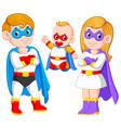 posing superheroes family vector image