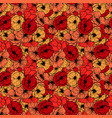 red poppies seamless pattern summer flowers in vector image