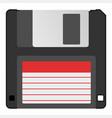 retro vintage information storage device floppy vector image