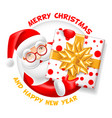 santa claus and blank sheet vector image vector image
