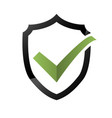 security check icon shield logotype protect sign vector image vector image