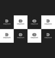 set initials d logo design template vector image vector image