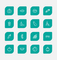 set of 16 editable cookware icons line style vector image