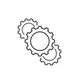 set of cogwheels equipmen of business icons vector image vector image