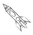 spaceship rocket isolated vector image vector image