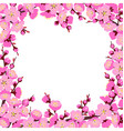 spring tree blossom square frame vector image vector image