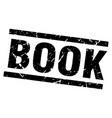 square grunge black book stamp vector image vector image