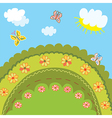 Summer landscape for kids vector image vector image