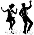 Tap Dancing silhouette vector image vector image