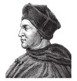 thomas cardinal wolsey vintage vector image vector image