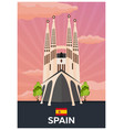 travel poster to spain flat vector image vector image
