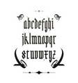 vintage gothic font vector image vector image