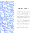 virtual reality line pattern concept vector image vector image