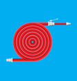 water hose to extinguish fire fire equipment vector image vector image