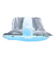 waterfall in front view isolated vector image