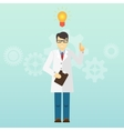Young scientist professor got an idea Startup vector image vector image