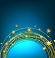 abstract background with gold stars vector image