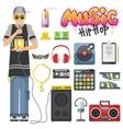 Rap hiphop vector image