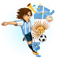 argentine argentina soccer cup vector image vector image