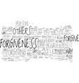 art forgiveness text background word cloud vector image vector image