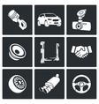 Auto service Icon set vector image vector image