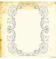 baroque of vintage elements for design vector image vector image
