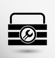 box of tools icon button logo symbol concept vector image vector image