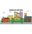 brooklyn new york city skyline architecture vector image