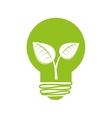 bulb energy recycle envioment nature design vector image vector image