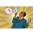 business boss and financial bubbles vector image vector image