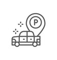 car with large parking pointer line icon vector image vector image