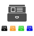 card index flat icon vector image