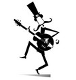 cartoon long mustache guitarist vector image