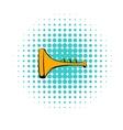 Children plastic trumpet icon comics style vector image vector image