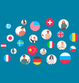 collaboration between countries people and vector image