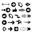 color arrow icons big vector image vector image
