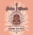 color template in retro style with guitar vector image