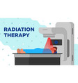 colorful of radiation therapy in a vector image vector image