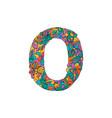 colorful ornamental alphabet letter o font vector image vector image