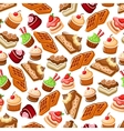 Confectionery and pastry bakery seamless pattern vector image vector image